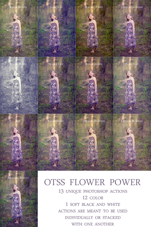 Flower Power Action Set for Photoshop CS and Elements